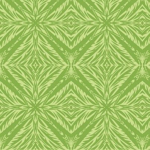 Jungle Diamonds of Ferny Green on Cool Spring Green