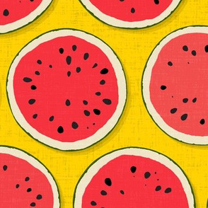 watermelon polka cadmium yellow
