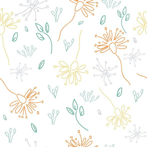 Flowers doodle style