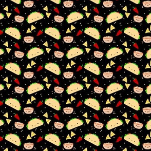 SMALL Taco Tuesday Party -Black Tiny Mini
