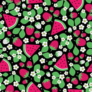 Summer Melon and Berries (Black)