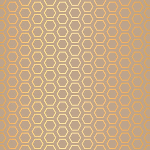 HoneyCombs Abstract Gold Foil effect seamless pattern background.