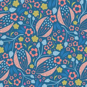 Swirly Modern Floral