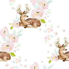 """8"""" Blush Floral Deer"""