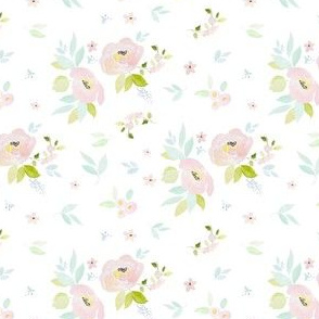 "4"" Pastel Blush Garden White"
