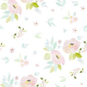 "8"" Pastel Blush Garden White"