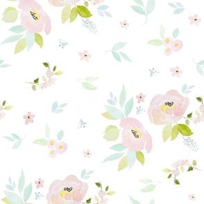 "21"" Pastel Blush Garden White"