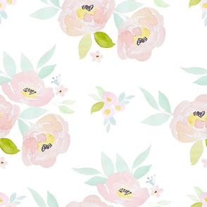 """21"""" Pastel Blush Roses"""
