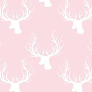 """4"""" White Deer Darker Pink Back"""