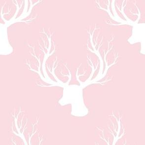 """8"""" White Deer Darker Pink Back"""