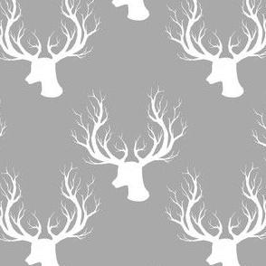 "4"" White Deer Grey Back"