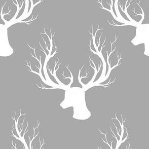 "8"" White Deer Grey Back"
