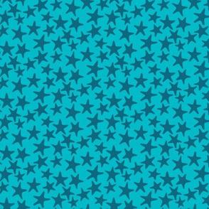 starfish stars turquoise by Pippa Shaw