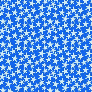 starfish stars blue