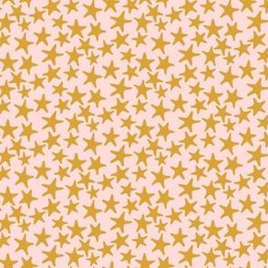 starfish stars blush mustard