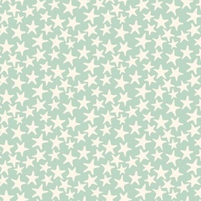 starfish stars-pale sage