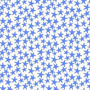 starfish stars sky blue by Pippa Shaw