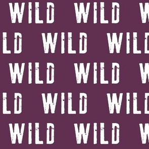 WILD on plum - C19BS