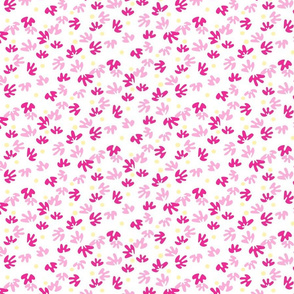 Abstract pink buds and dots