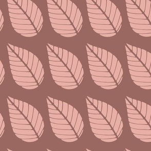 Brown leaf pattern