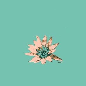 Water Lily in Green Limited Color Pallete