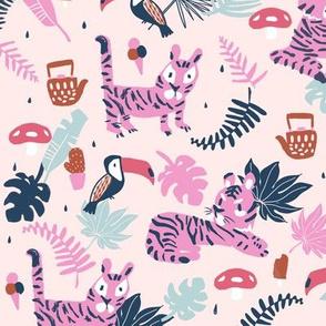 tiger pink large