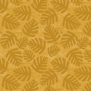 Golden Jungle Leaves