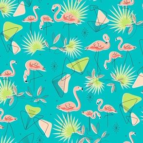 Flamingo-Rama (Turquoise)