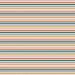 Dusty Jewel Vintage Stripe (A) - 1/4""