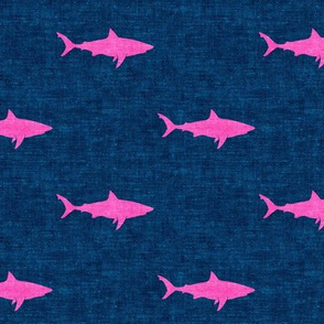 sharks (pink on dark blue) - LAD19