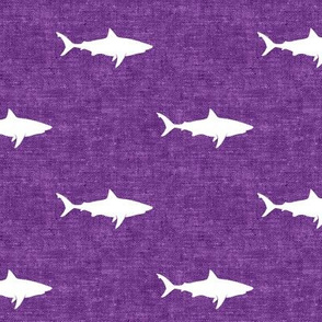 sharks on purple - LAD19