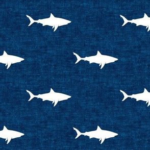 sharks on dark blue - LAD19