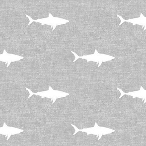 sharks on grey - LAD19