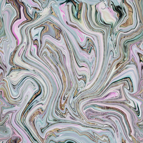 Marbled Pastel Mineral Style Pattern