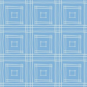 Hand-Drawn Squares in Pastel Blue and Gray