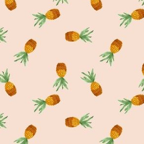 Pineapple on rose