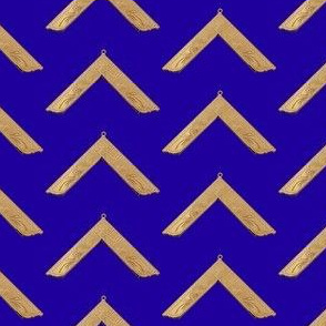 "Large 2"" Worshipful Master Jewel Masonic Gold Blue"