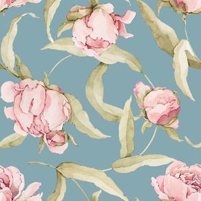 Watercolor Peonies-034-Blue
