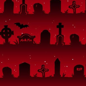 Cemetery Stripes in Red