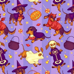 Hallowieners on Purple Stripes