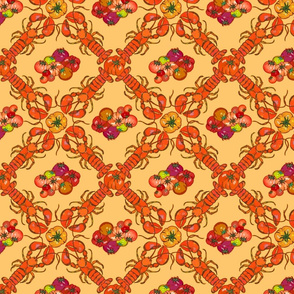 lobster tomato gold pattern