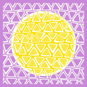 Lemon Sun pillow topper aka creativity dot #11