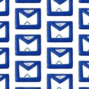"Large 2"" Blue Masonic Apron"