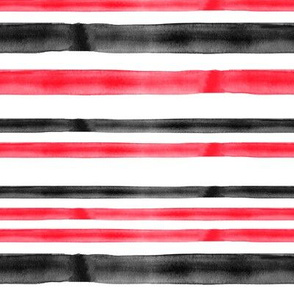 red and black watercolor stripes - C19BS