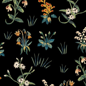 FloraPattern black
