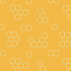 Save the bees minimal honey comb abstract beehive geometric summer ochre pattern