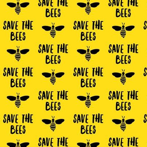 (small scale) save the bees - black and yellow - LAD19BS