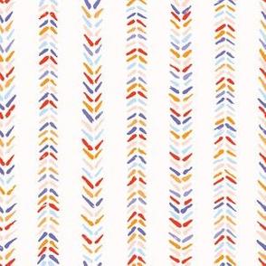 Hand drawn herringbone folk art stitch seamless pattern.