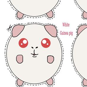 White Guinea Pig Plush Pillow PEW
