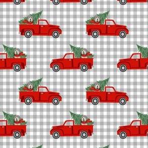 red truck fabric, wallpaper \u0026 home decor , Spoonflower